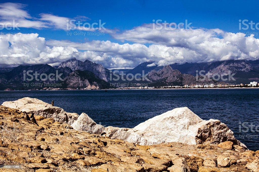 Wave, Tropical Climate, Sand, Travel Destinations, Idyllic stock photo