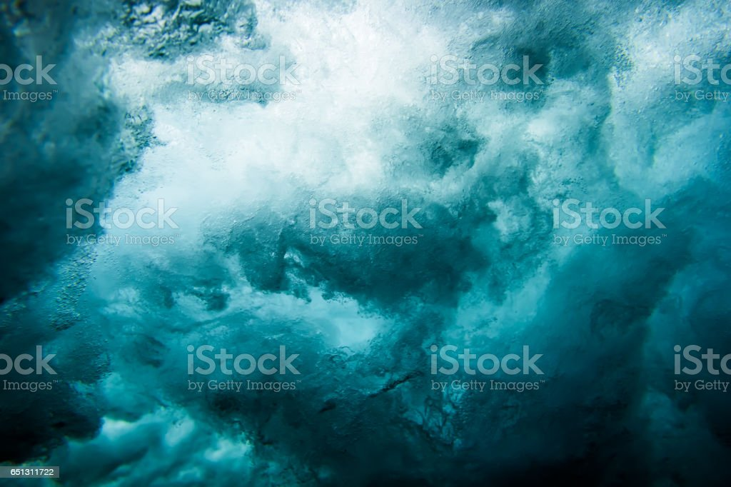 Wave underwater stock photo