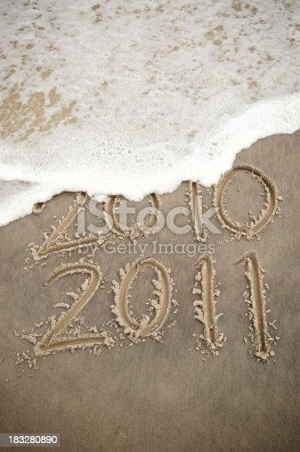 istock Wave Washes Out 2010 Leaving 2011 183280890