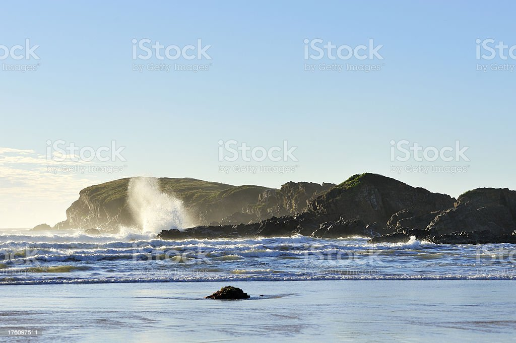 Wave with Splash royalty-free stock photo
