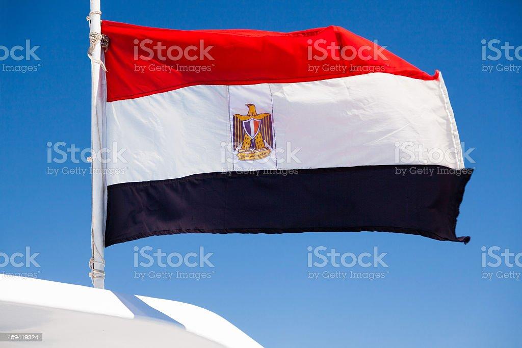 Hice bandera egipcia - foto de stock