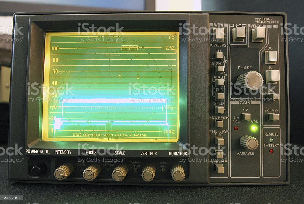 Waveform/Vectorscope royalty-free stock photo