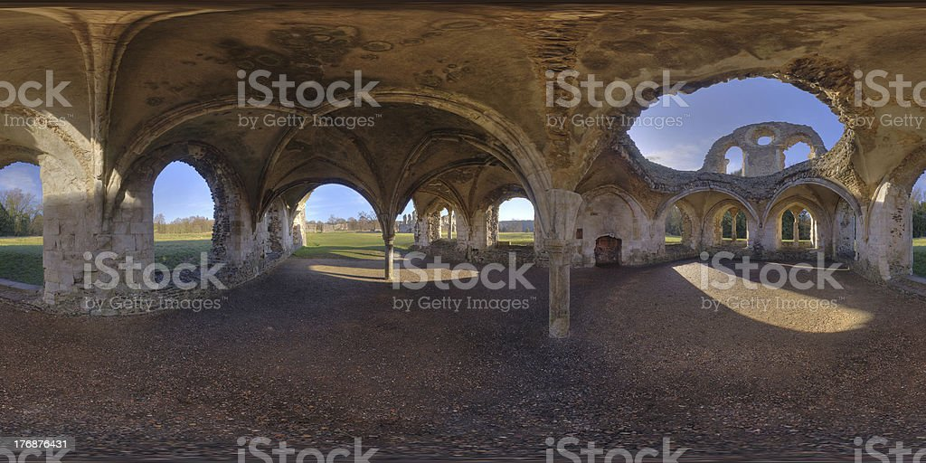Waverley Abbey stock photo