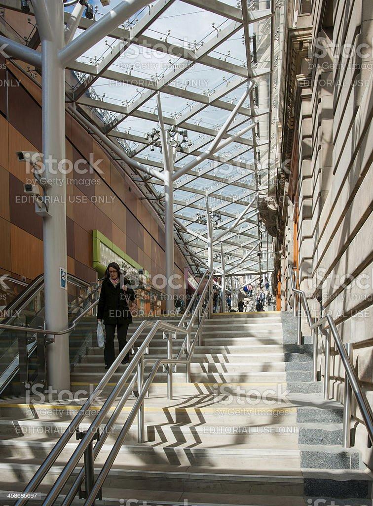 Waverley Steps, Edinburgh, Scotland stock photo