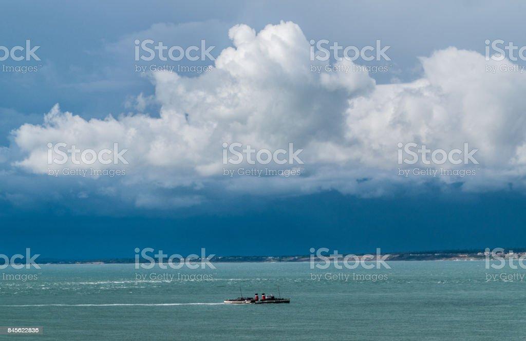Waverley under thunder  clouds stock photo