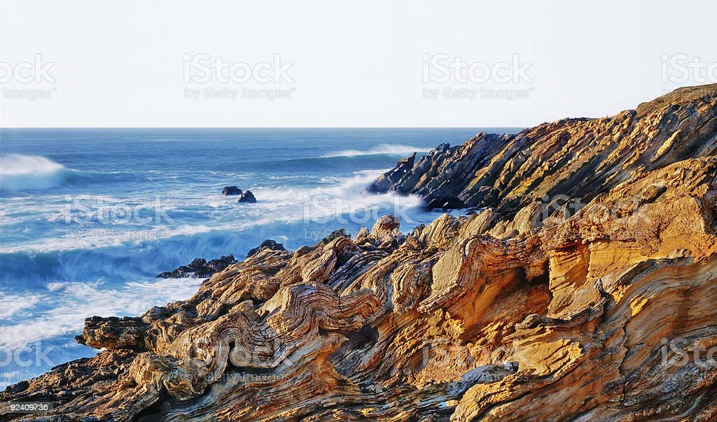 Wave-Rock Beach stock photo