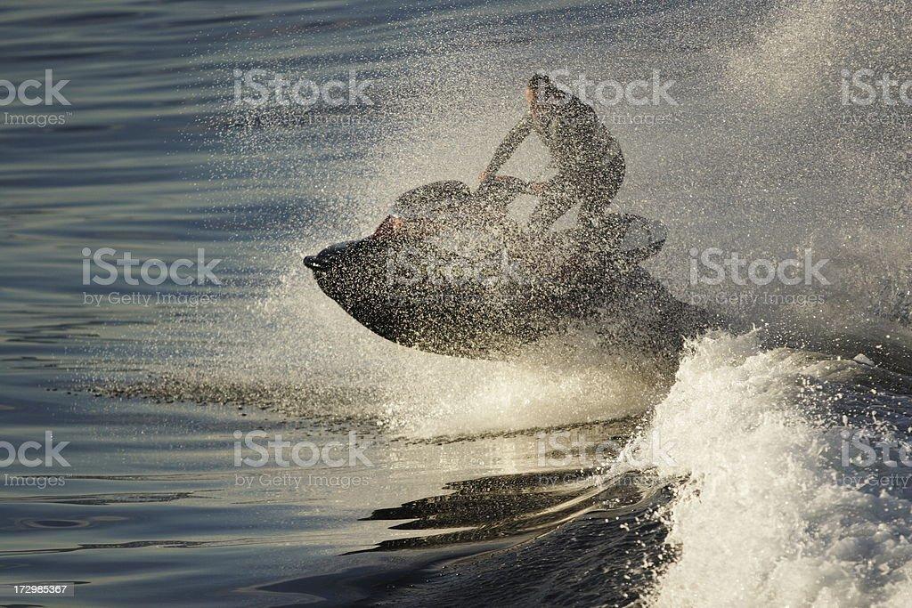 Waverunner Pilot Hotdogging Stunt stock photo