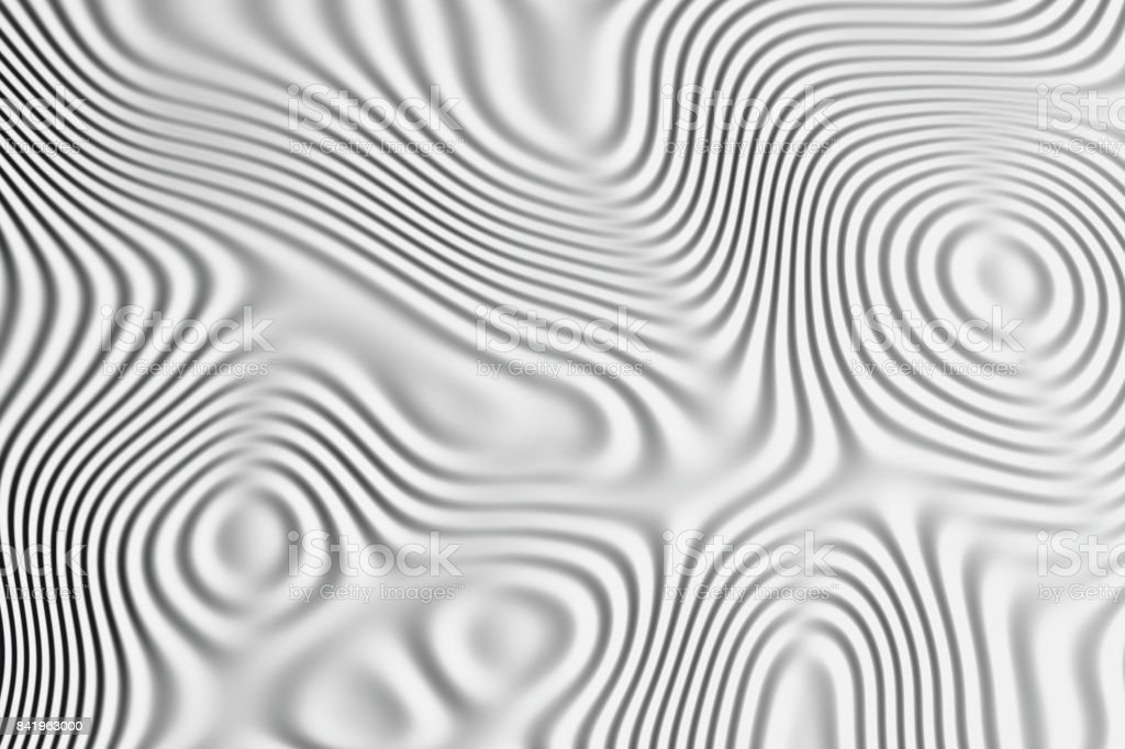 Waves 3D stock photo