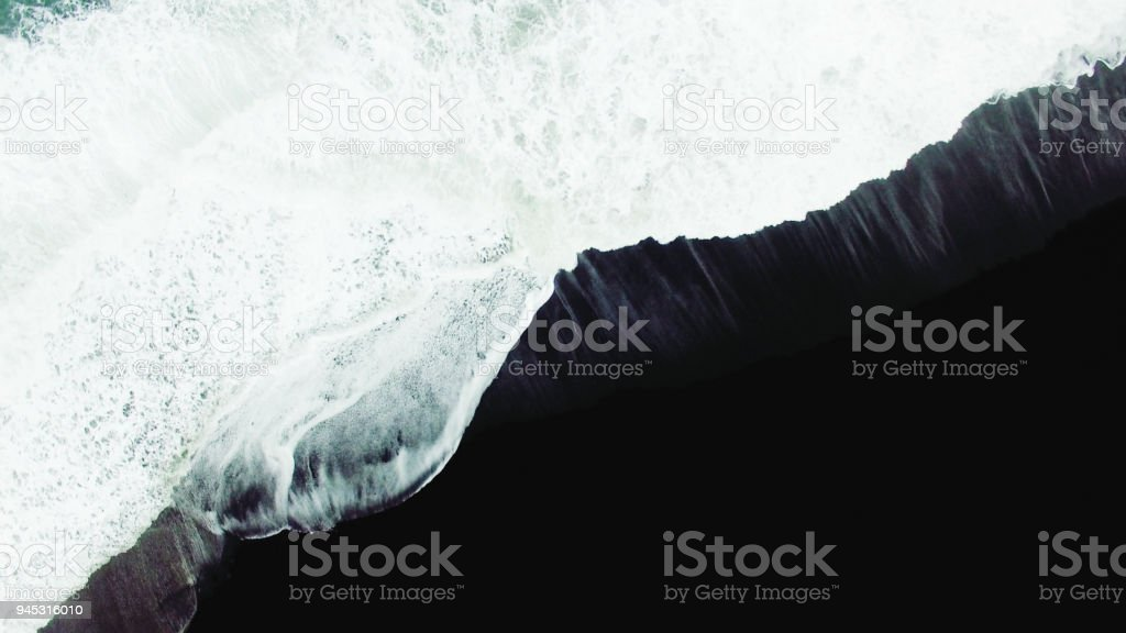 Waves and foam stock photo