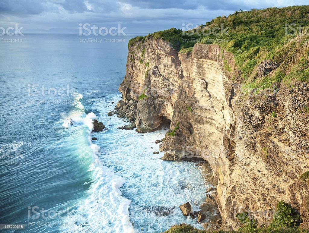 waves and rocks royalty-free stock photo