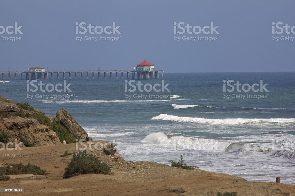 Waves At Huntington Beach California royalty-free stock photo