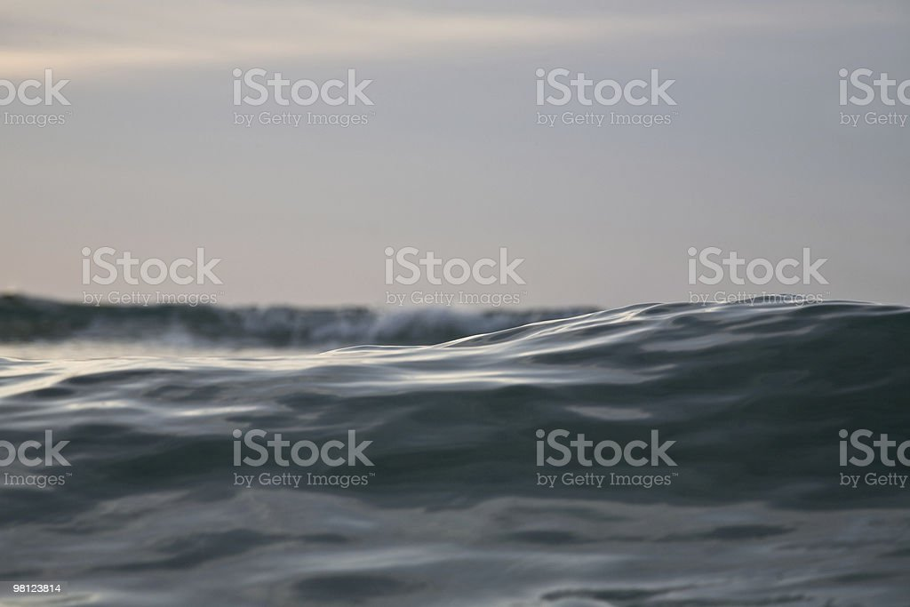 waves at sunrise royalty-free stock photo