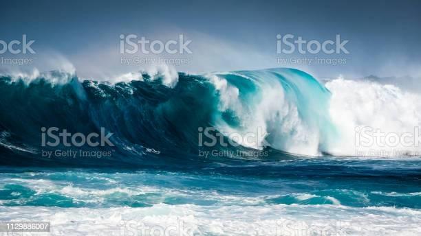 Photo of Waves breaking on the coast of Lanzarote, La Santa. Canary Island