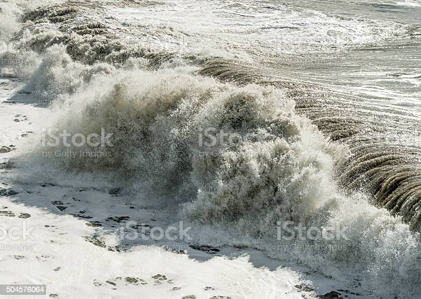 Photo of Waves breaking onshore, storm surge
