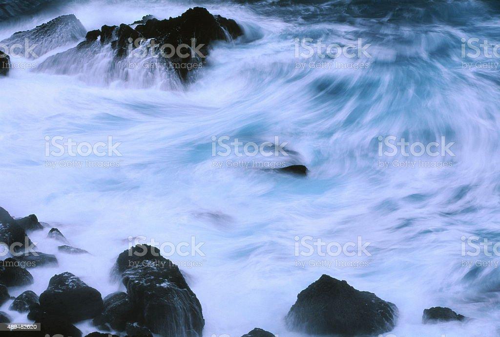 打ち寄せる波 ストックフォト