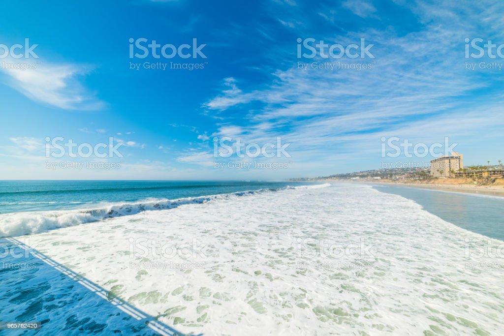 Waves by the shore in Pacific Beach - Royalty-free Acidente - Evento Relacionado com o Transporte Foto de stock