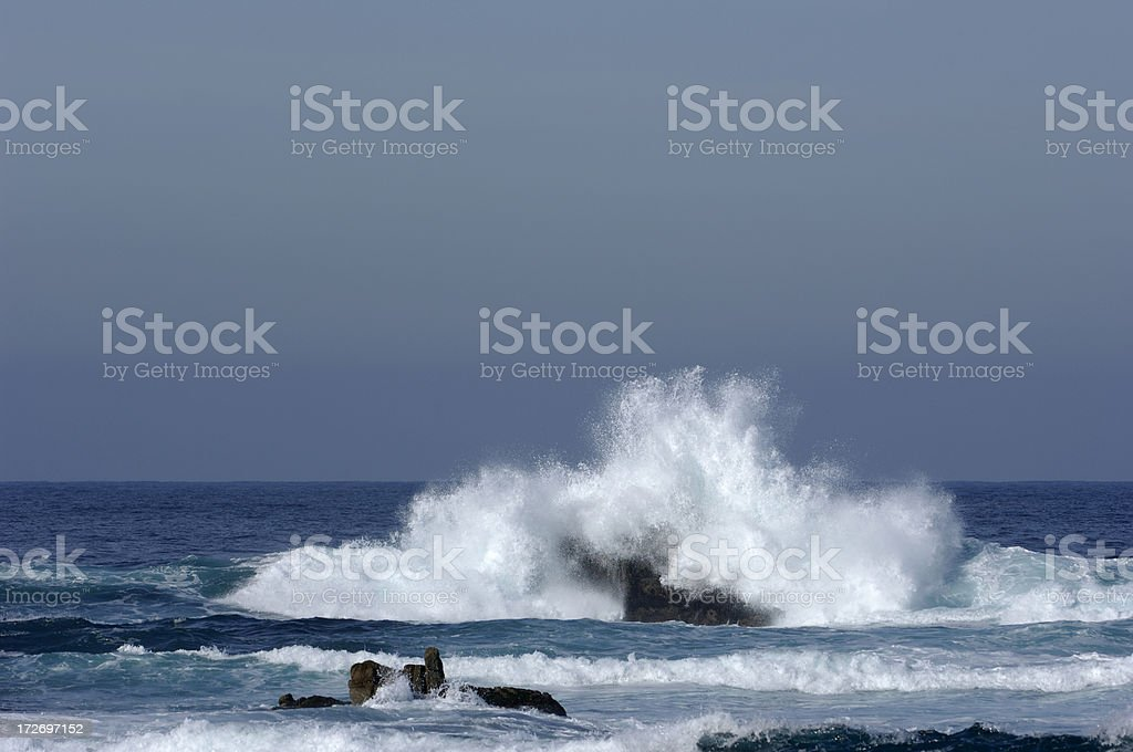 Waves crashing in Pacific Grove, California royalty-free stock photo