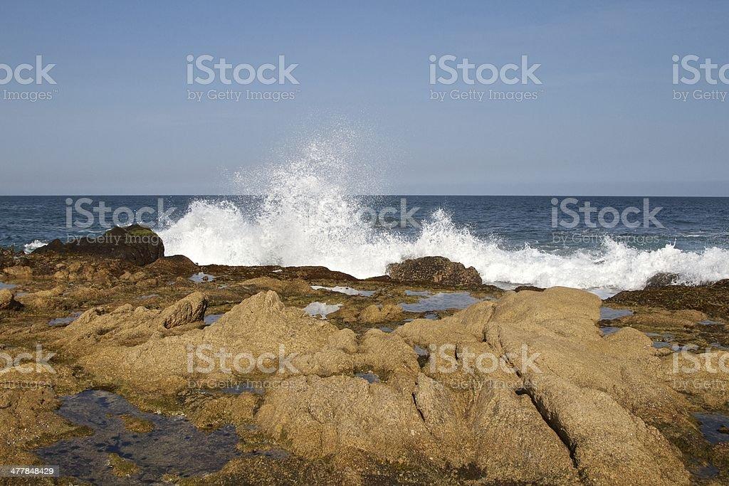 Waves crashing royalty-free stock photo