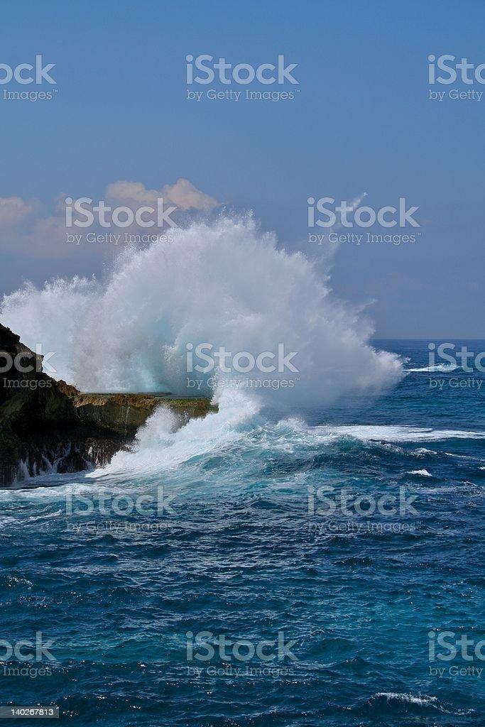 Waves Exploding royalty-free stock photo