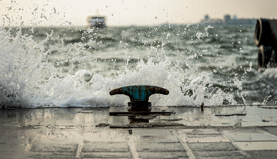 Waves Hitting The Pier