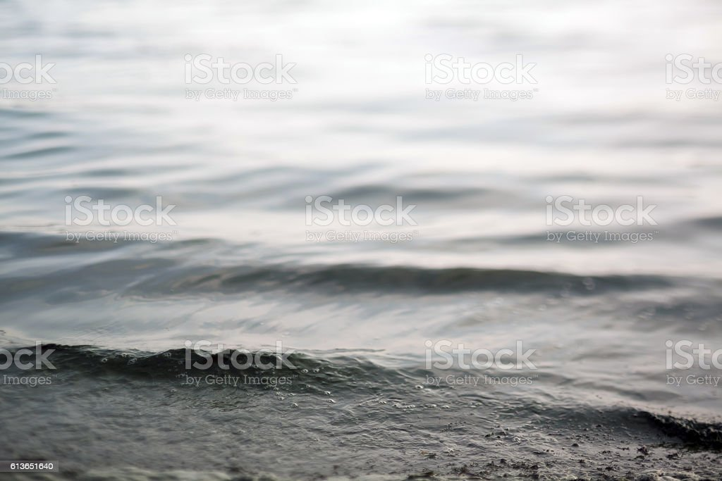 Waves in Contre-jour. stock photo