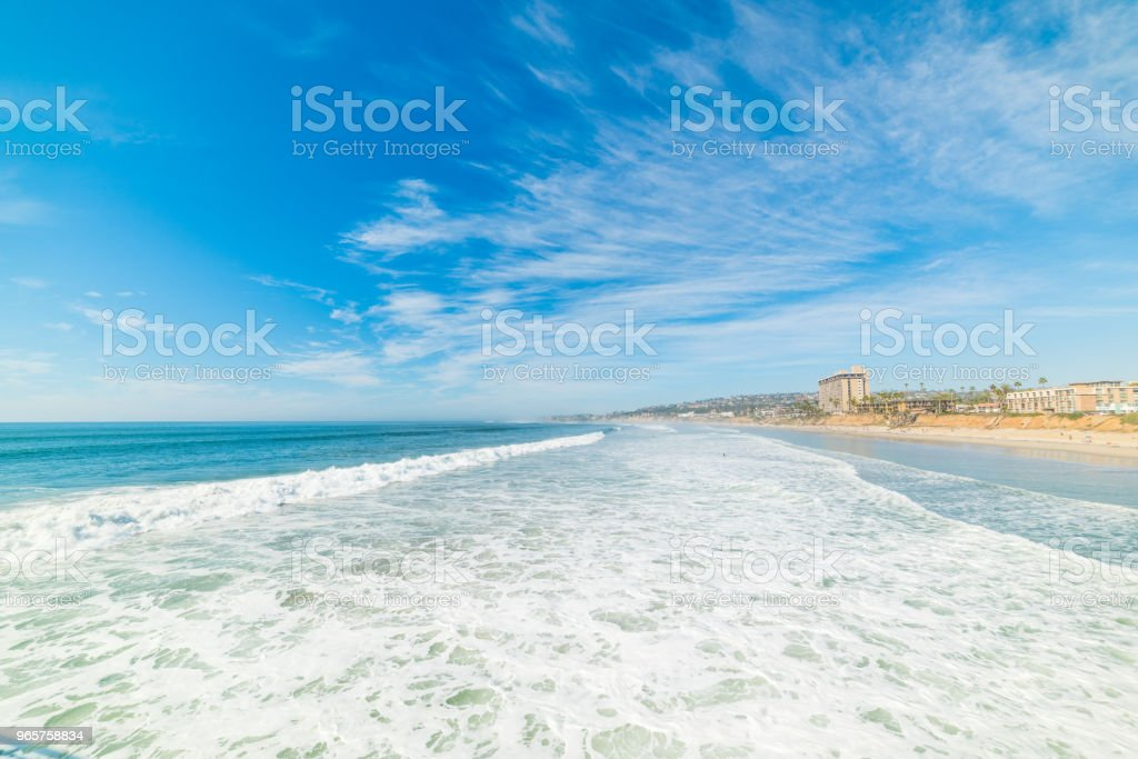 Waves in Pacific Beach in San Diego - Royalty-free Adventure Stock Photo