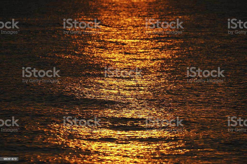 Waves in sunset royalty-free stock photo