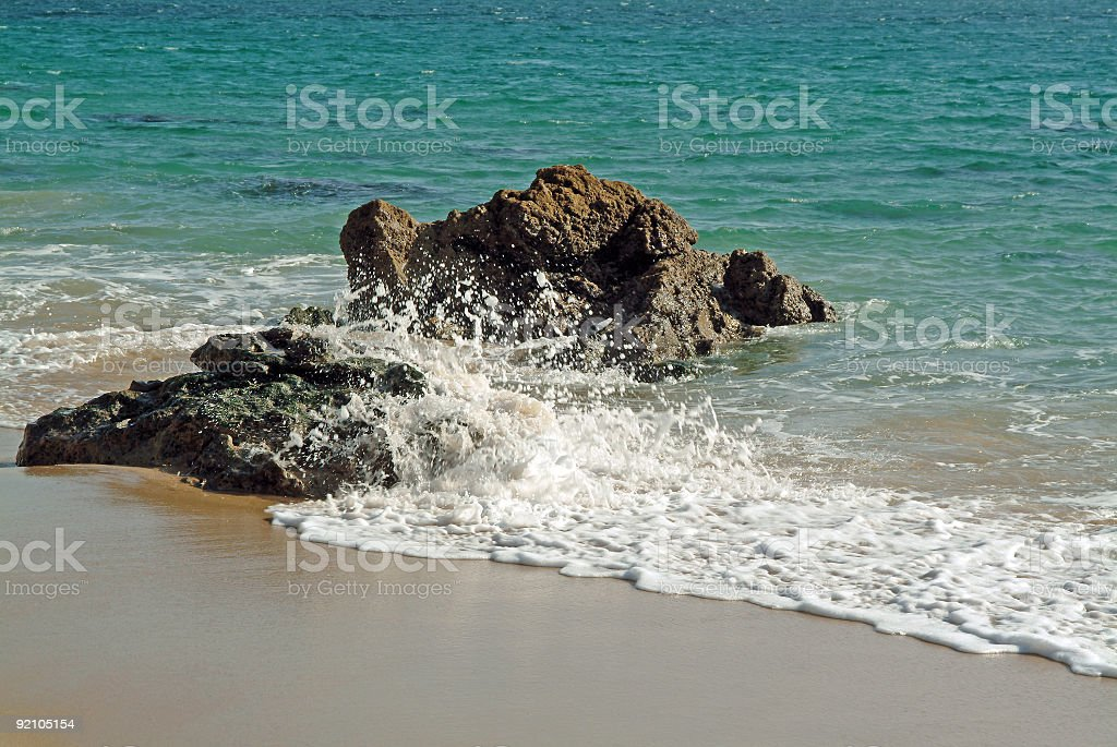 Waves in the beach royalty-free stock photo