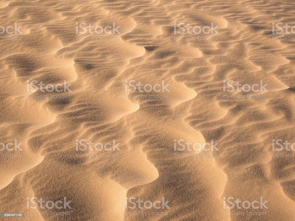 Waves in the Desert Sand stock photo