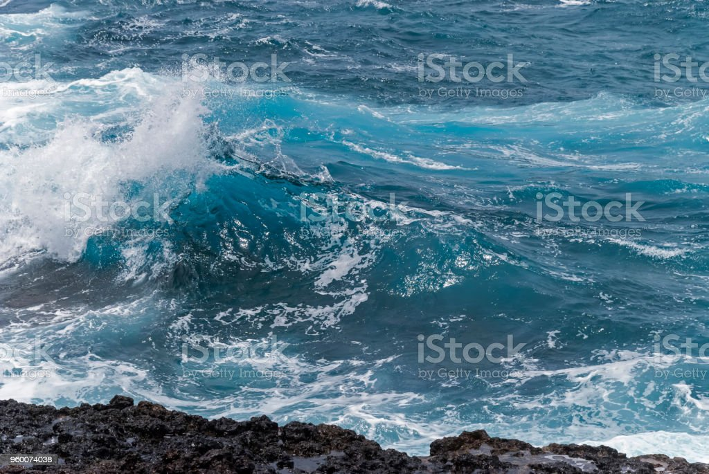 Waves in the ocean stock photo