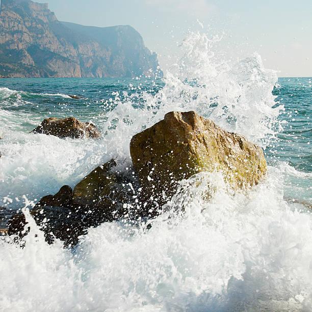 Sturm. Wellen und Meer-Schaum. – Foto