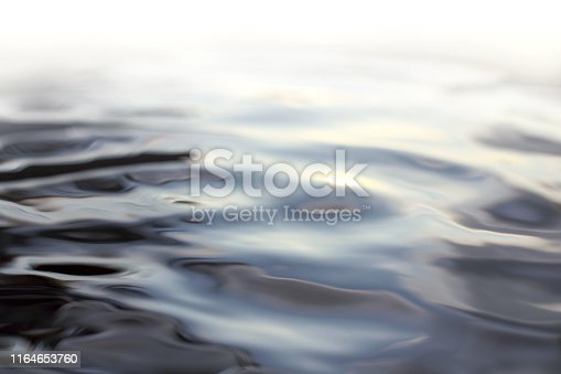 blurry ripples on the water with the transition from light to dark tones