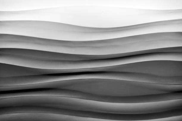 Waves lines abstract pattern stock photo