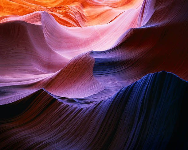 Ondas de cor, Desfiladeiro Antelope - foto de acervo