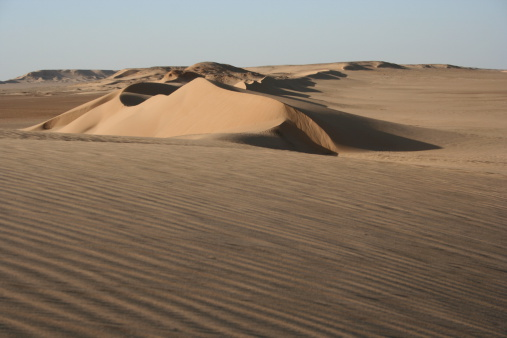 Sand dune at the Erg Chigaga desert; North-western Sahara between Morocco and Algeria.