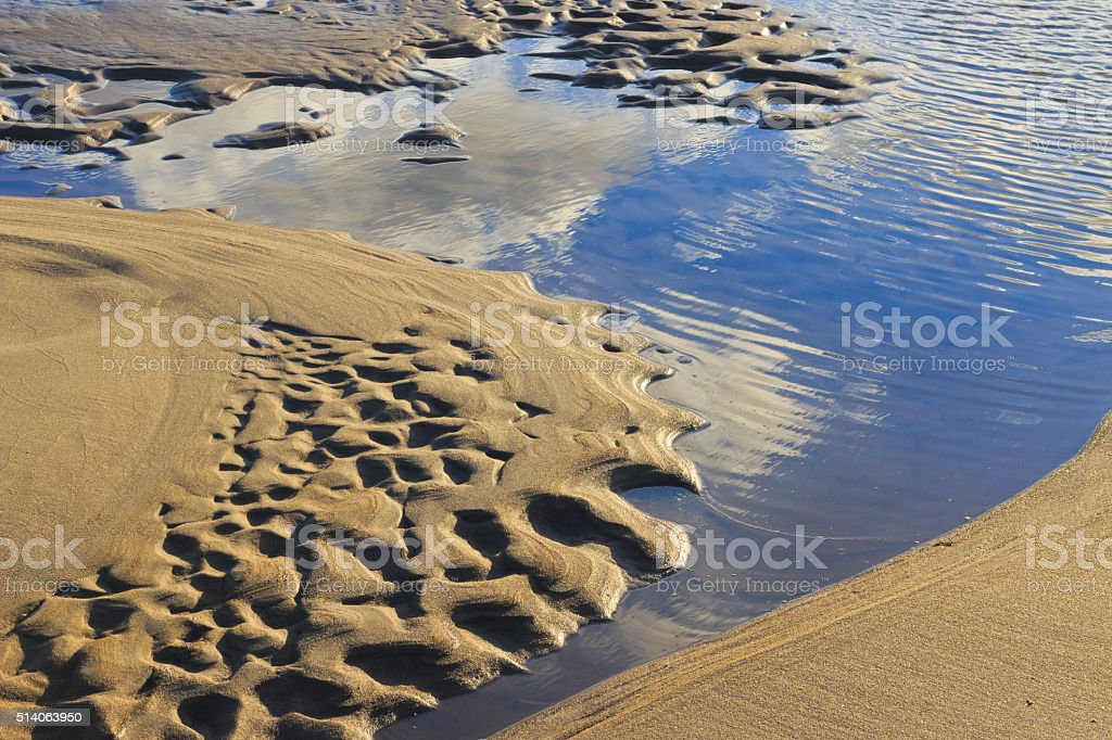 Waves of sand. stock photo