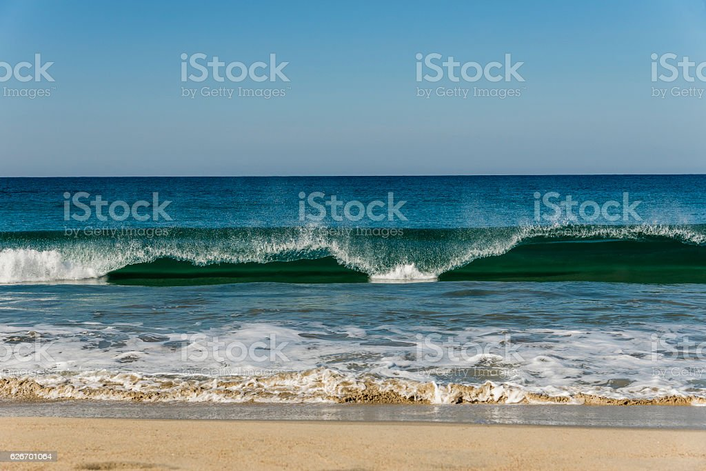 waves of the Pacific stock photo
