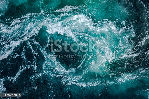 istock Waves of water of the river and the sea meet each other during high tide and low tide. 1175047915
