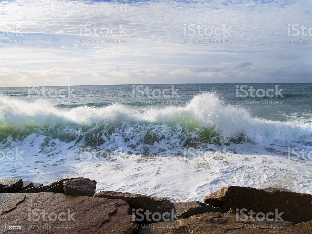 Waves on Boulders royalty-free stock photo