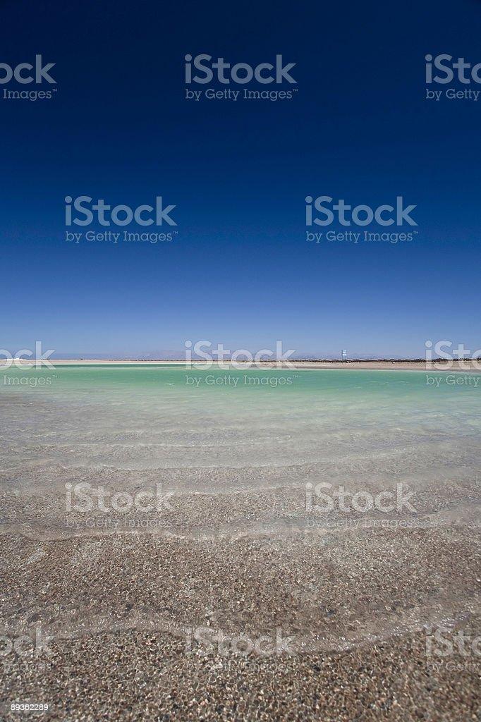 waves on magic lake royalty-free stock photo