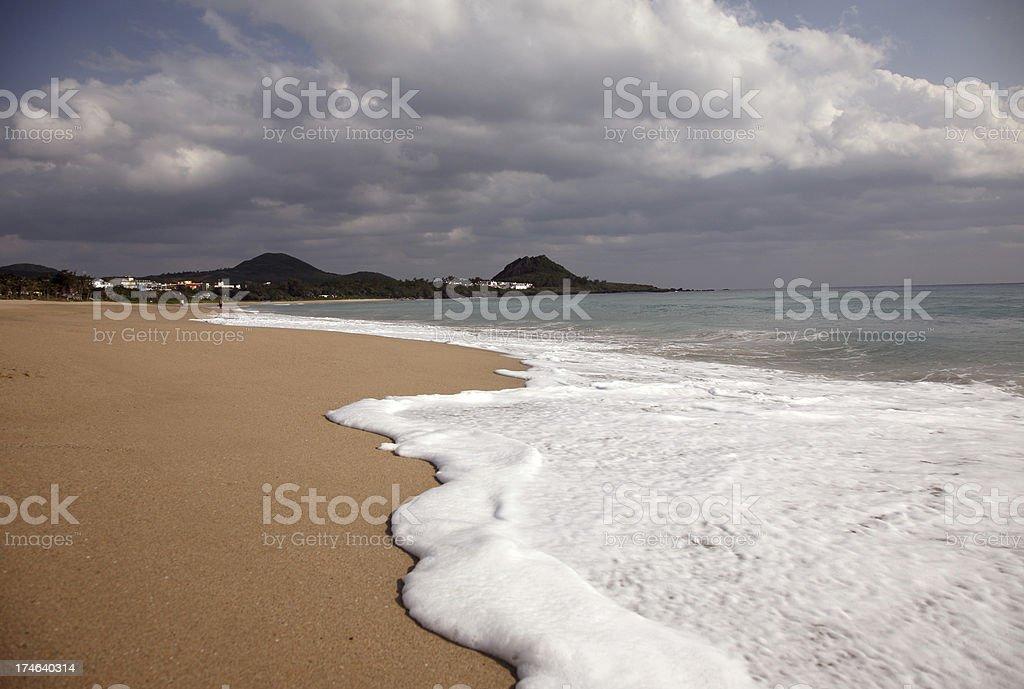 Waves on Sand Beach royalty-free stock photo