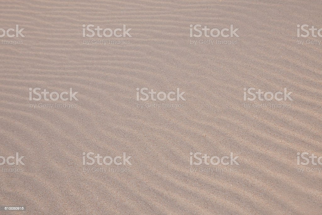 Waves on sand stock photo