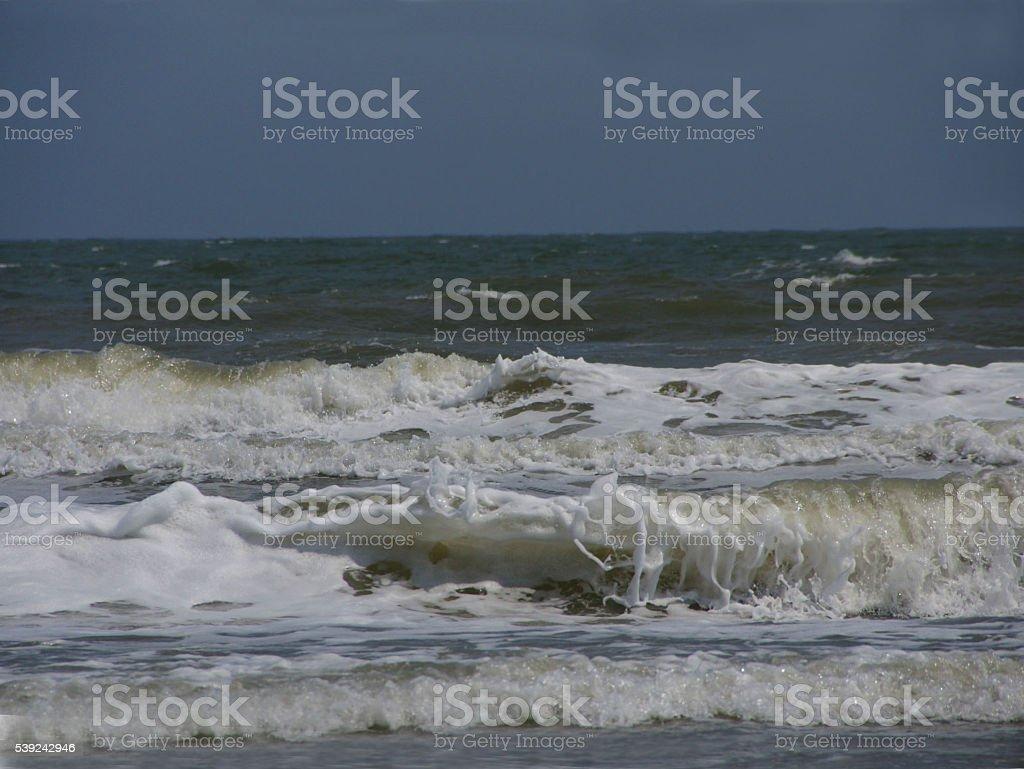 Olas en la playa de Carolina del Sur foto de stock libre de derechos