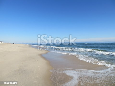 Waves on the beach at cooper's beach in Southampton, Long Island, New York.