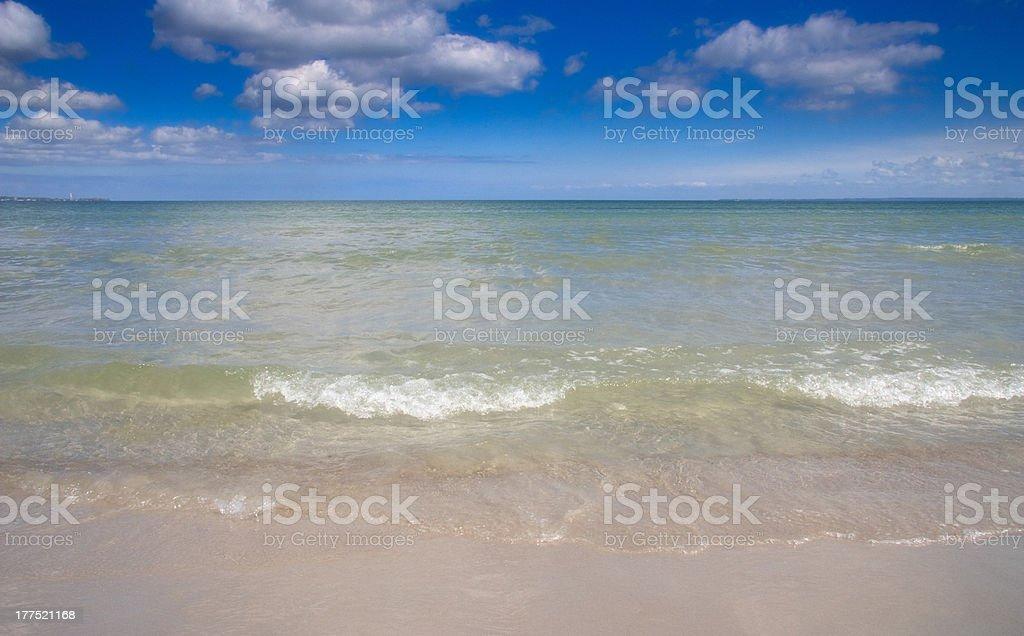 Wellen am Strand von Lübeck Bay Ostsee Lizenzfreies stock-foto