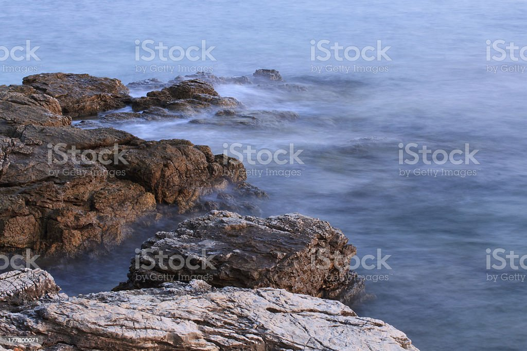 waves on the rocks. royalty-free stock photo