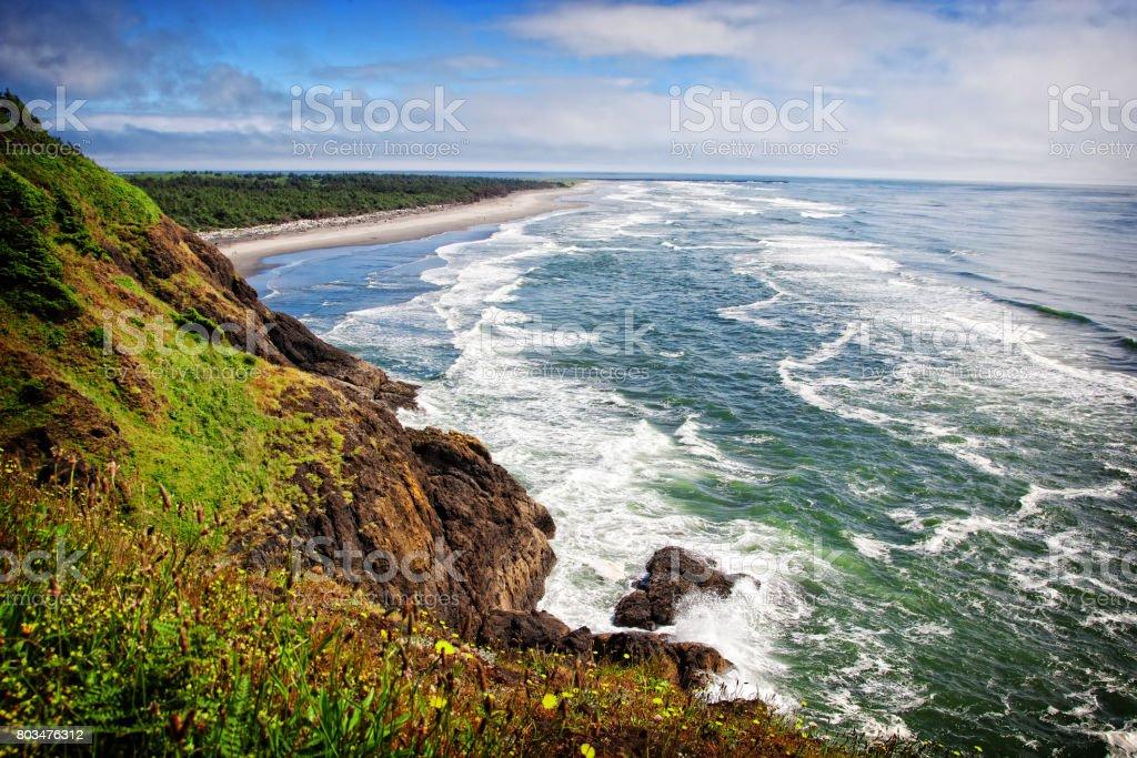 Waves on the Washington Coast stock photo