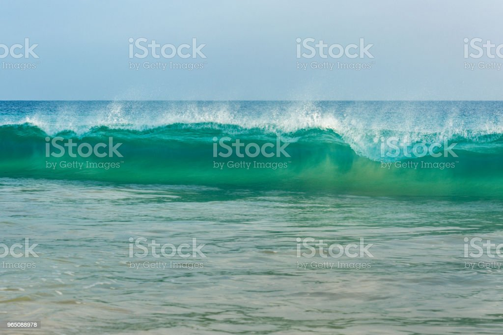 Waves on turquoise ocean royalty-free stock photo