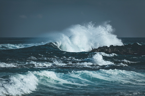 waves splashing indian ocean