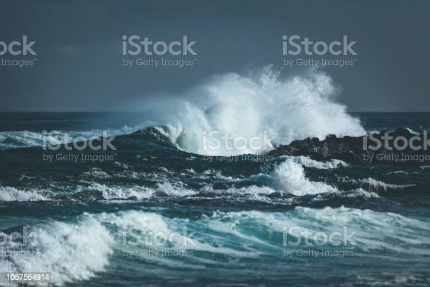 Photo of waves splashing indian ocean